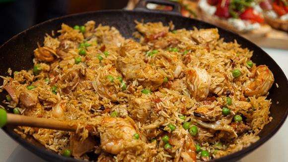 Паэлья с курицей классический рецепт с фото пошагово