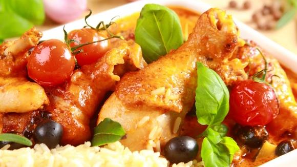 Рецепт курицы с томатами в духовке