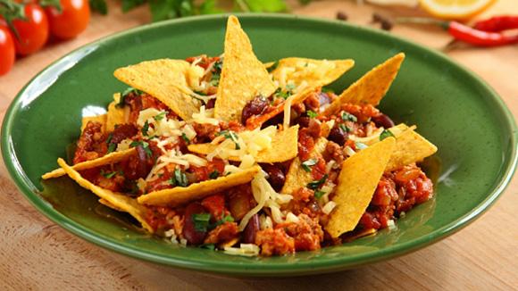 Мексиканское рагу с фасолью и томатами