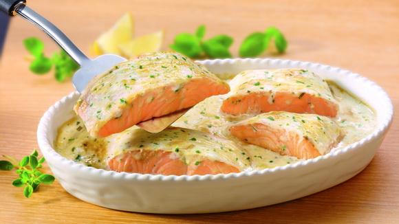 рецепт красной рыбы в сливочном соусе с фото