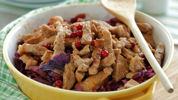 Image result for Свинина с красной капустой и яблоками