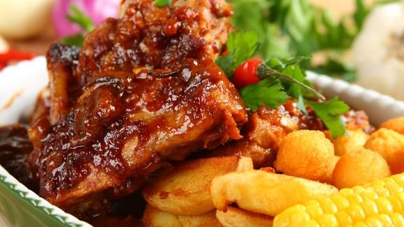 Ребрышки свиные в соусе барбекю рецепт камины электрические в благовещенске