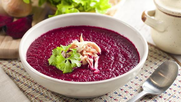 Холодный свекольный суп-пюре