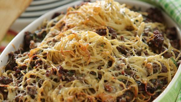 Рецепт запеканки из спагетти