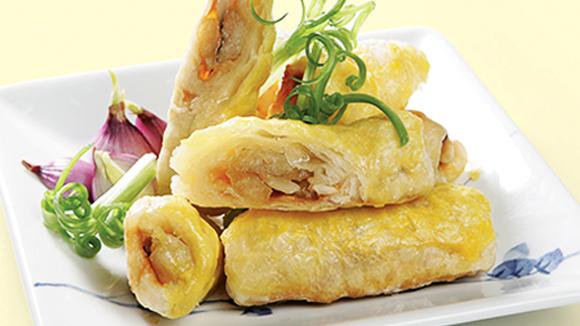 Bột cuộn cá chẽm nướng