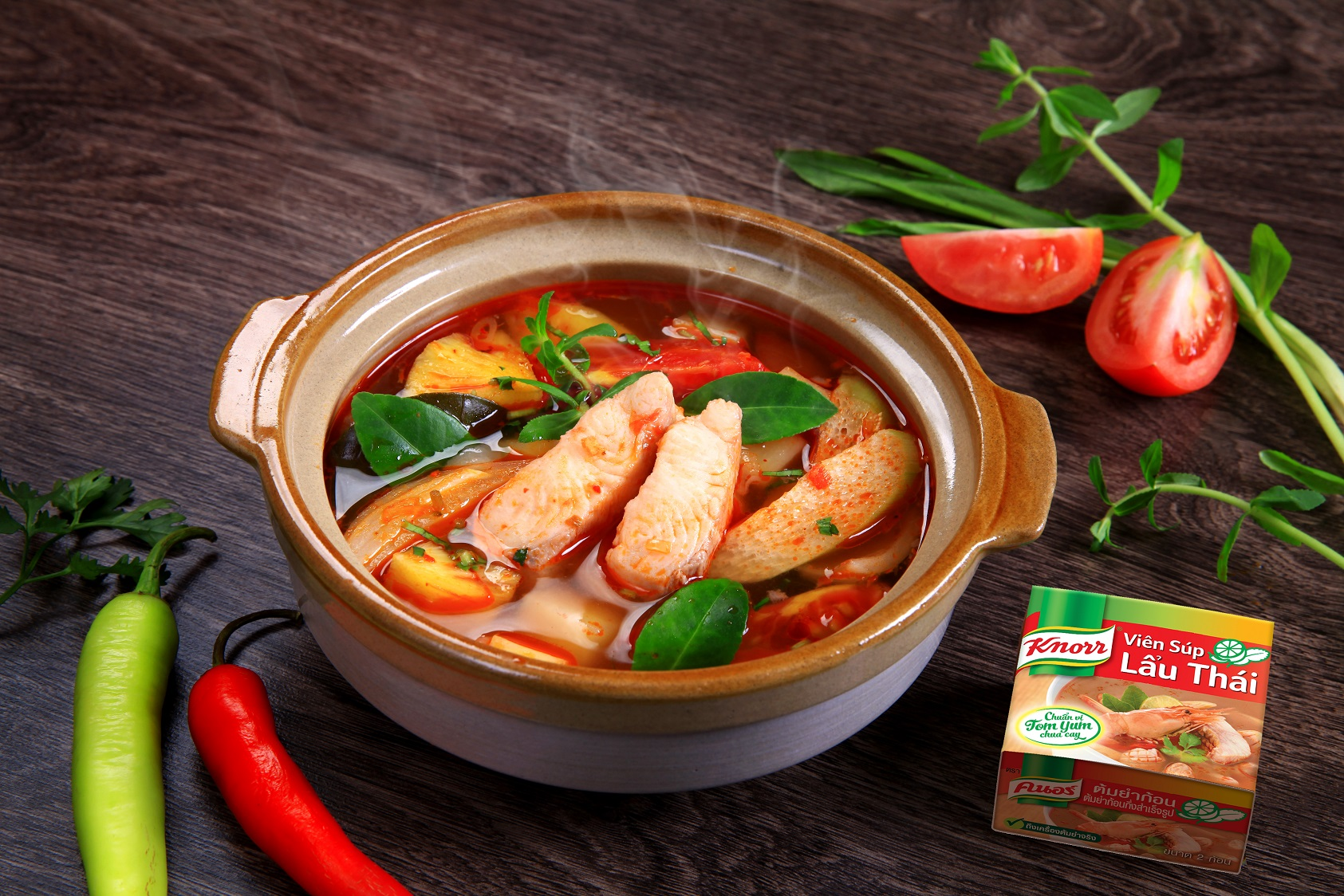 Canh chua cá mỡ kiểu Thái