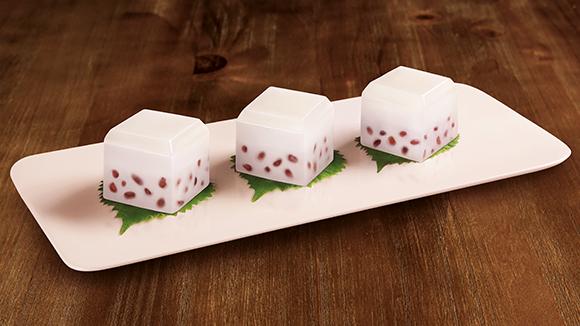 傳統椰汁紅豆軟糕