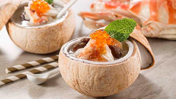 海參蟹肉椰皇凍