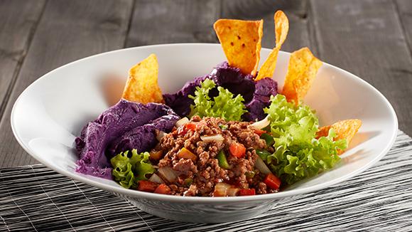 牛肉醬拌紫薯蓉