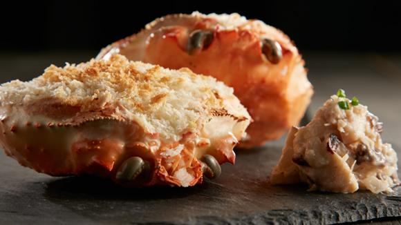 牛肝菌焗釀蟹蓋