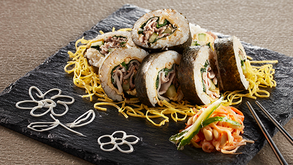 韓式薑汁豬肉紫菜飯卷