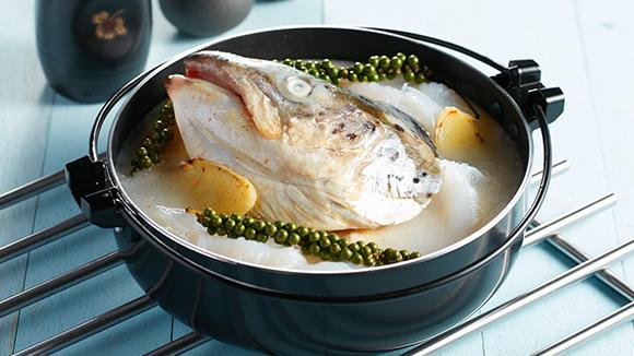 清酒胡椒煮三文魚頭