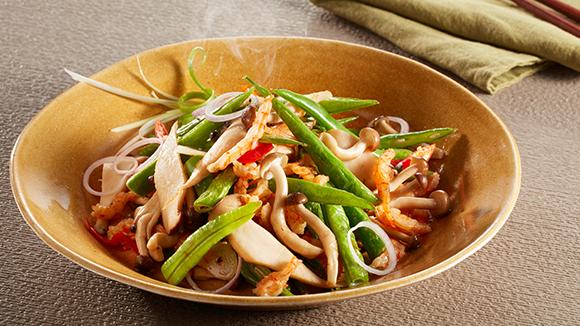 麻辣鮮露蝦乾野菌四季豆