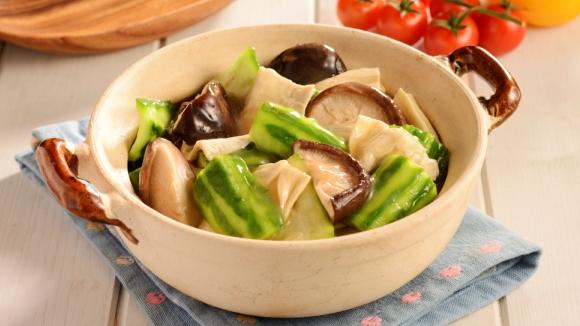 鮮竹冬菇炆勝瓜