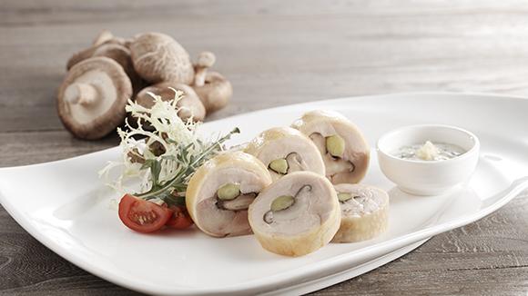 香菇露荀雞肉凍卷