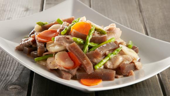 蒟蒻炒肉片