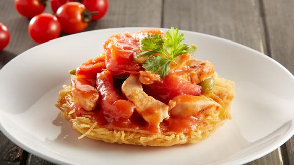 鮮茄蜜豆雞柳意式麵餅