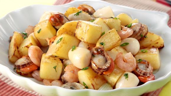 雜錦海鮮炒薯粒
