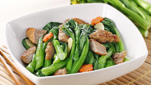 香煎肉餅炒時蔬