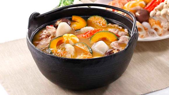 日式南瓜豬骨湯底