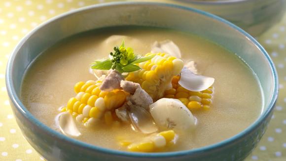 粟米馬蹄百合肉片湯