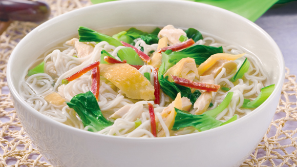 嫩雞時菜上海麵