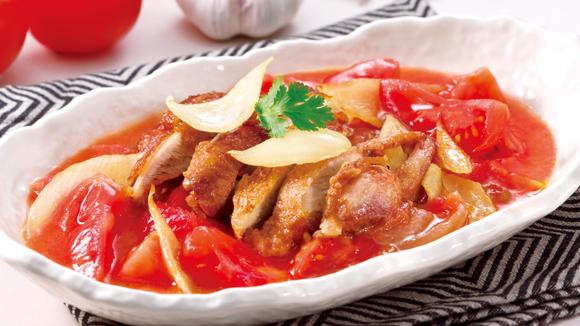 鮮茄洋蔥雞扒