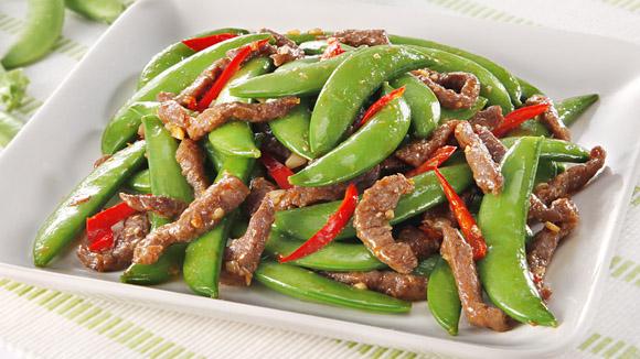 川椒牛肉炒蜜豆
