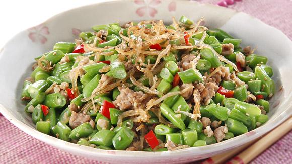 乾炒銀魚玉豆粒