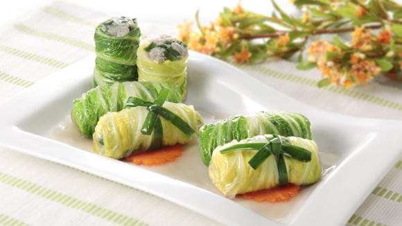 旺菜鮮肉卷