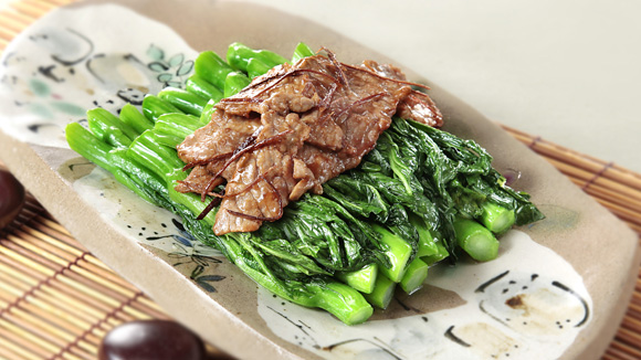陳皮牛肉炒菜心