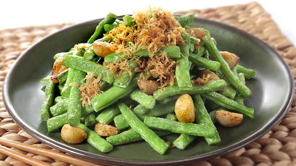 蒜香瑤柱四季豆
