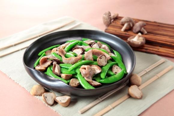 四季豆炒豬頸肉