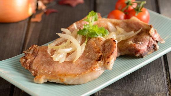 洋蔥煎豬扒
