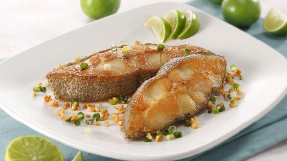雞汁金蒜煎魚扒