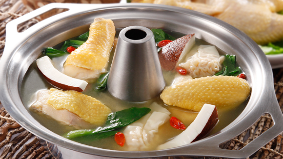 椰子滑雞火鍋湯底