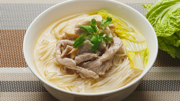 冬筍肉絲湯上海麵