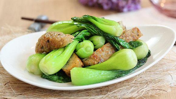 自製魚餅炒小棠菜