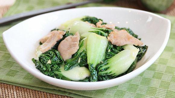 薑米白菜炒梅頭肉
