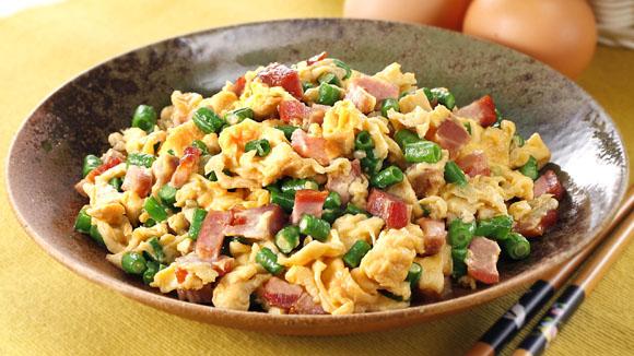 叉燒豆角炒蛋