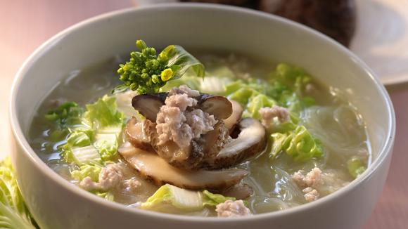 冬菇津白肉碎粉絲湯