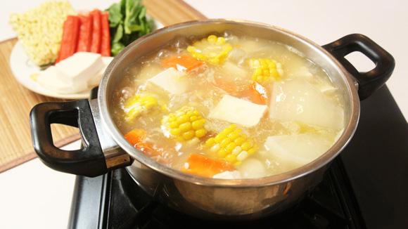 甘粟蘿蔔滑豆腐湯