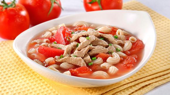 鮮茄豬柳湯通粉