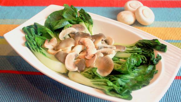 雜菌扒菜膽