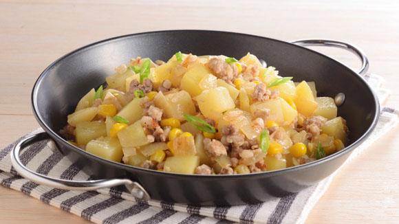 肉碎炒薯粒