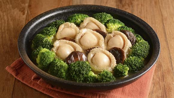 鮑魚鮮菇扒時菜