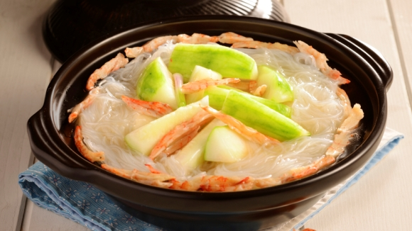 蝦乾節瓜粉絲煲