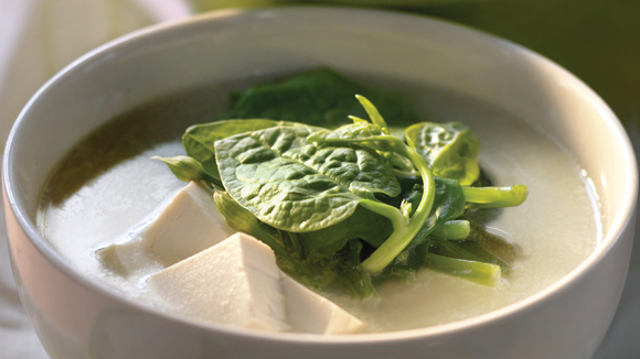 豆腐潺菜湯