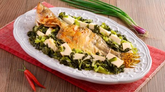 雪菜豆腐炆桂花