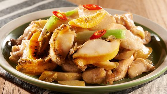 鮑魚香雞炒淮山